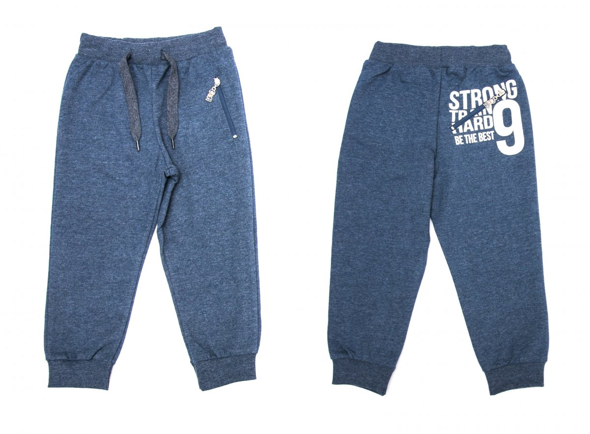 Pantaloni trening baieti EH 9874 albastru 92-152cm