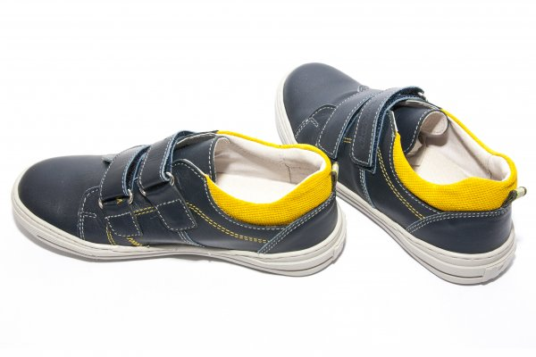 Pantofi baieti sport hokide 353 albastru galben 26-35