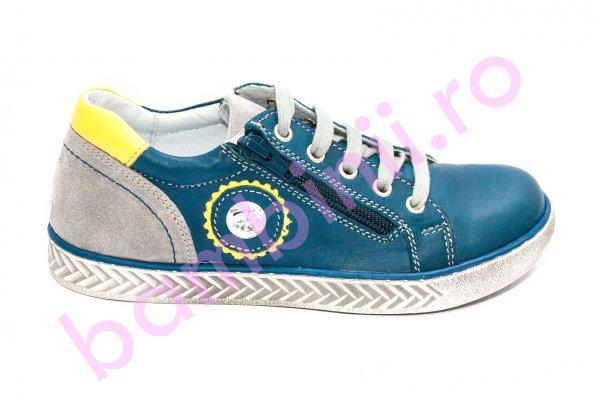 Pantofi baieti hokide 400 albastru galben 26-37
