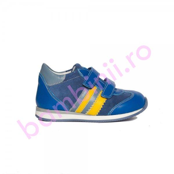 Pantofi baieti pj shoes Costa albastru galben 20-26