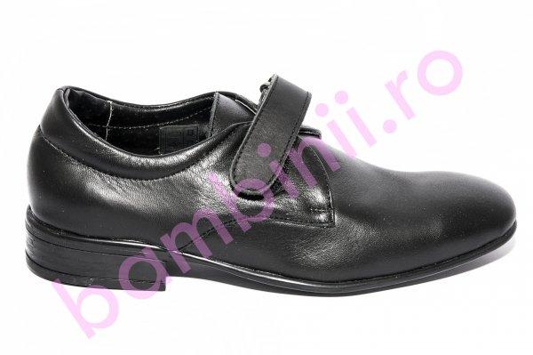 Pantofi baieti scoala 1308 negru arici 30-37