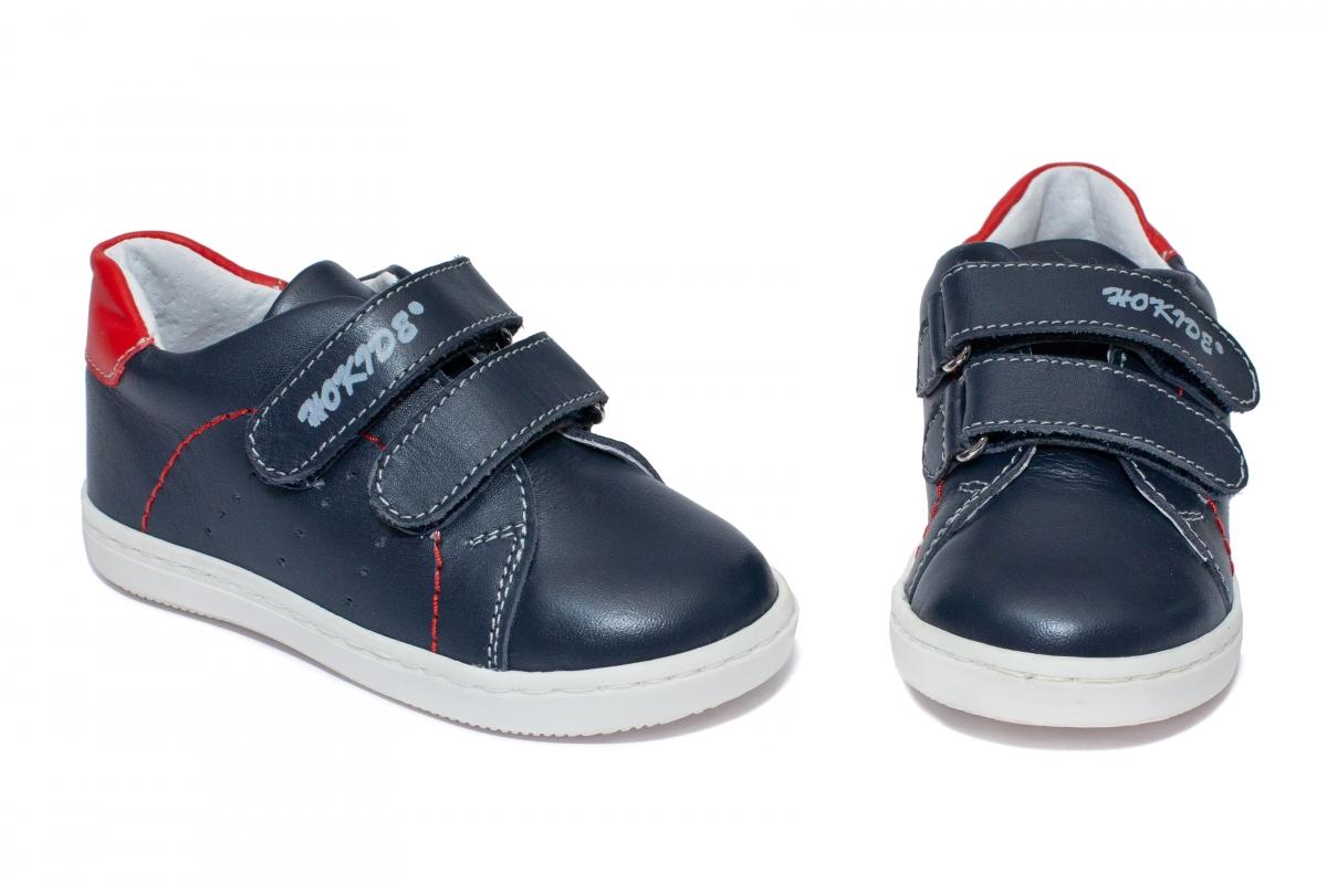 Pantofi baieti sport hokide 409 blu rosu 19-25