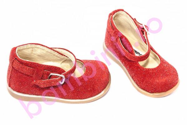 Pantofi balerini copii 185 rosu lux 20-25