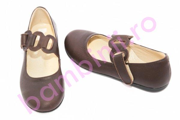 Pantofi balerini copii 639 maro