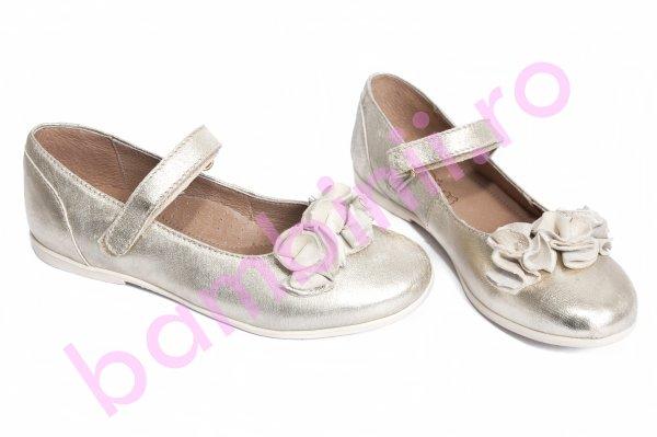 Pantofi balerini copii hokide 272 argintiu bareta