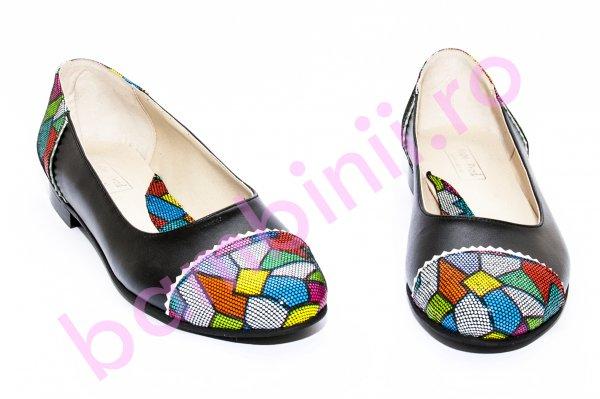 Pantofi balerini dama 026A negru pazel 34-41