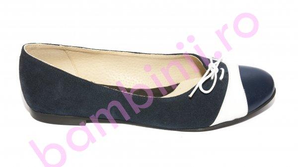 Pantofi balerini dama 026 siret blu alb 34-41