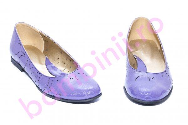 Pantofi balerini dama perforati laser 026 mov lac 34-41