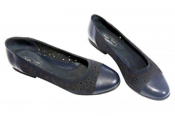 Pantofi balerini dama perforati laser 26 blu 34-41