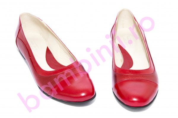 Pantofi balerini dama piele 026.8 rosu bordo 34-41