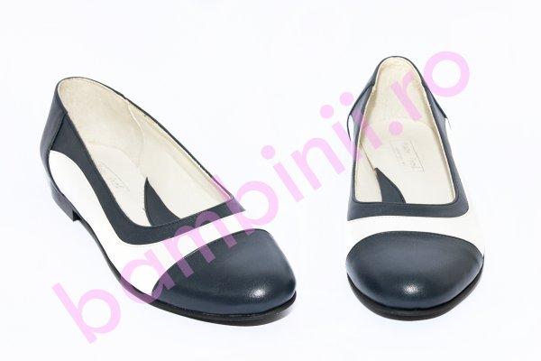 Pantofi balerini fete 026.8 blu alb 34-41