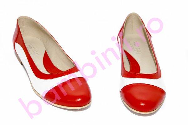 Pantofi balerini fete 026.8 corai alb 34-41