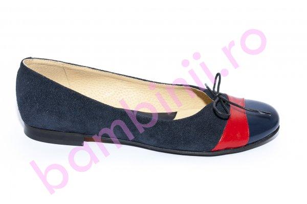 Pantofi balerini fete 026 blu rosu siret 34-41