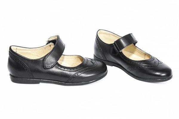 Pantofi balerini fete 129 negru box 24-37