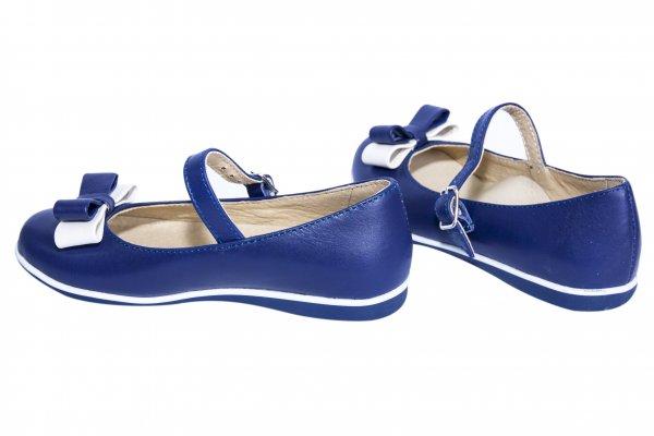 Pantofi balerini fete 1326 blu alb 26-36