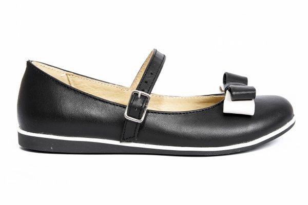 Pantofi balerini fete 1326 negru alb 26-36