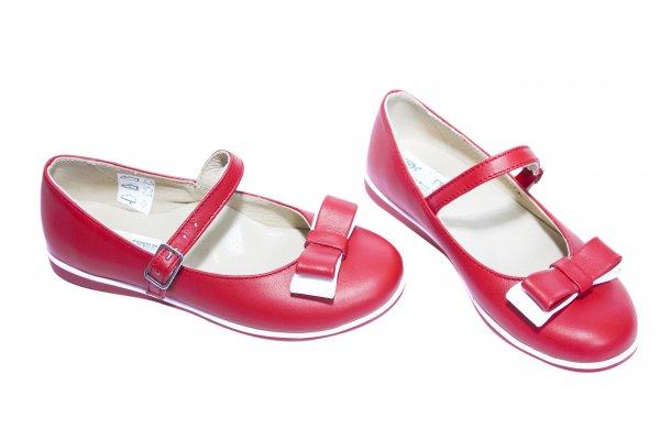 Pantofi balerini fete 1326 rosu alb 26-36