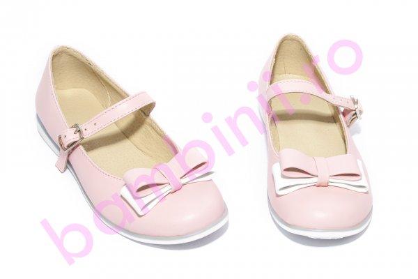 Pantofi balerini fete 1326 roz alb 26-36