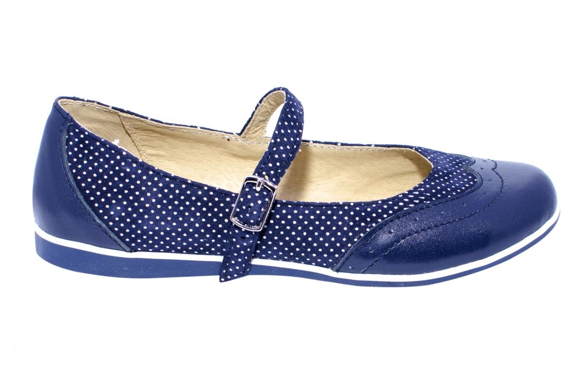 Pantofi balerini fete 1327 blu lux 26-36