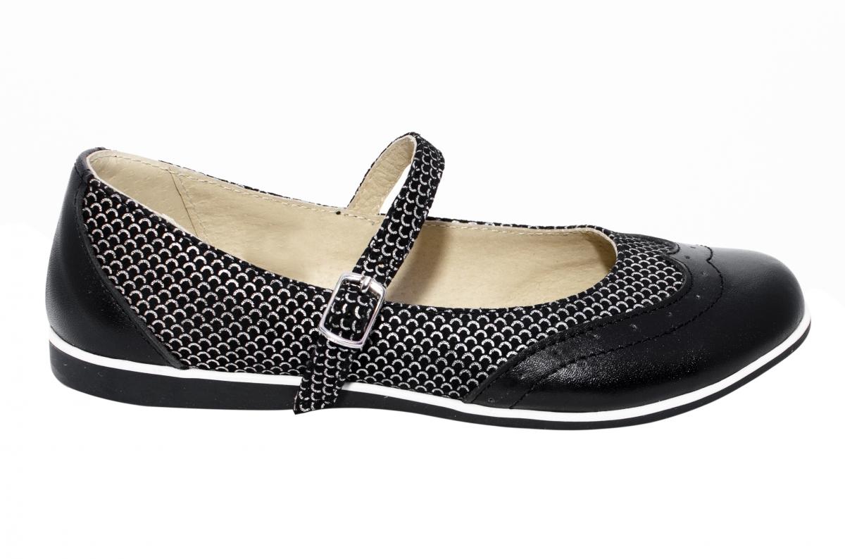 Pantofi balerini fete 1327 negru lux 26-36