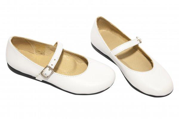 Pantofi balerini fete 1326 alb neg 26-36