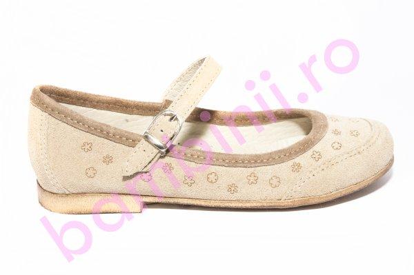 Pantofi balerini fete 383 bej laser 26-36