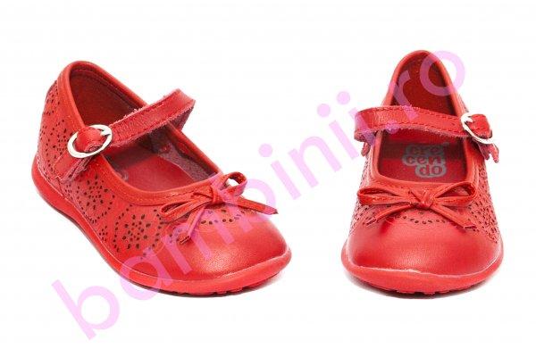 Pantofi balerini fete Crecendo 706 rosu 20-29