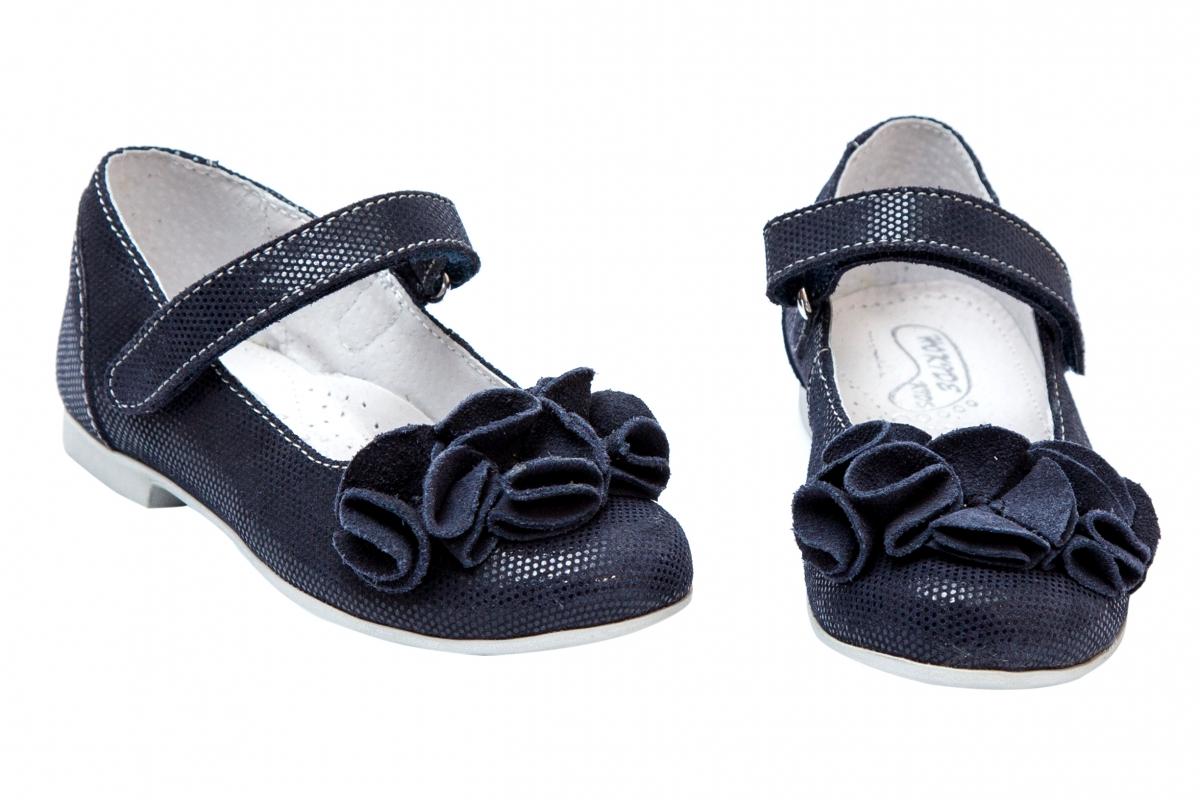 Pantofi balerini fete hokide 272 blu floare 26-35