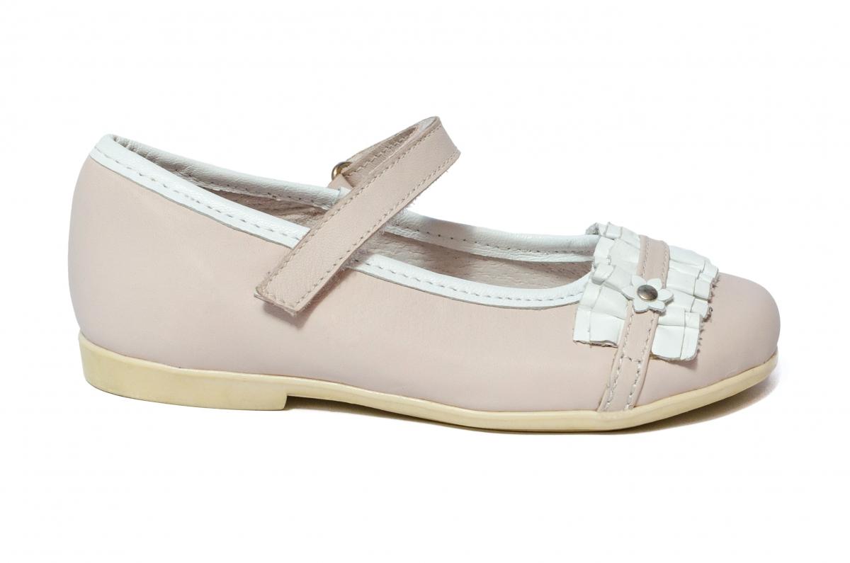 Pantofi balerini fete hokide 277 roz alb 26-35