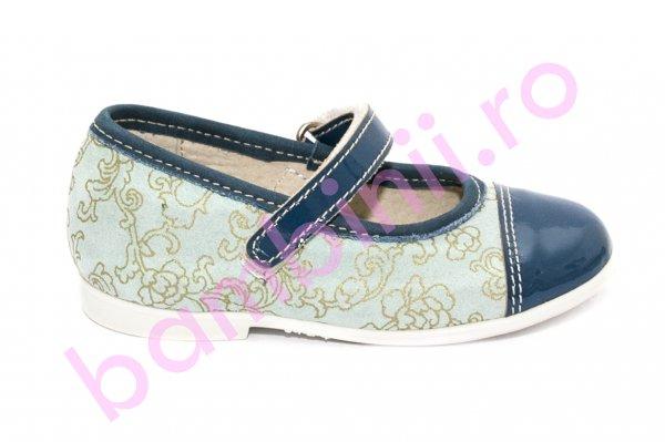 Pantofi balerini fete hokide 304 blue blu lac 22-27