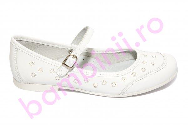 Pantofi balerini fete hokide 383 alb 26-36