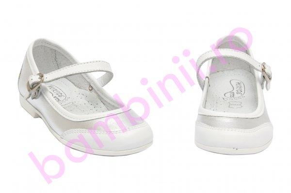 Pantofi balerini fete hokide 383 alb argintiu 26-36