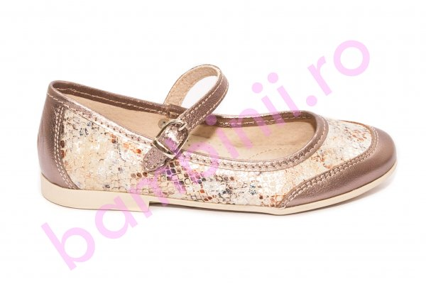 Pantofi balerini fete hokide 383 auriu 26-36