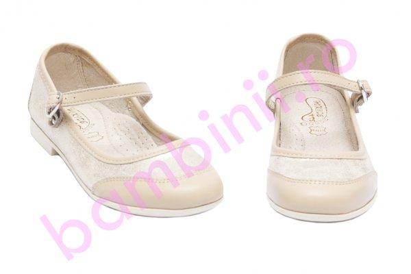 Pantofi balerini fete hokide 383 bej auriu 26-35