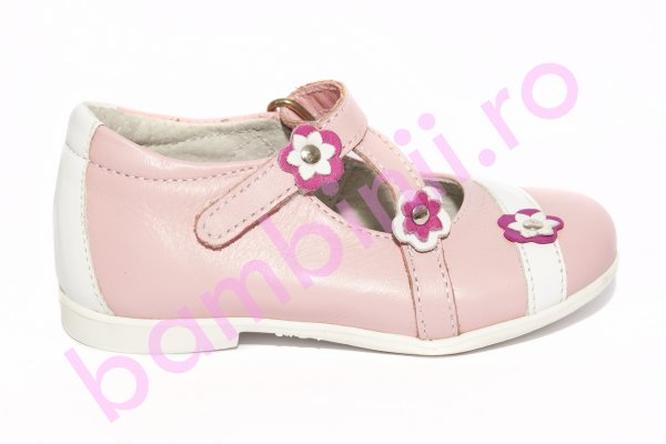 Pantofi balerini fete hokide 405 roz alb 20-27