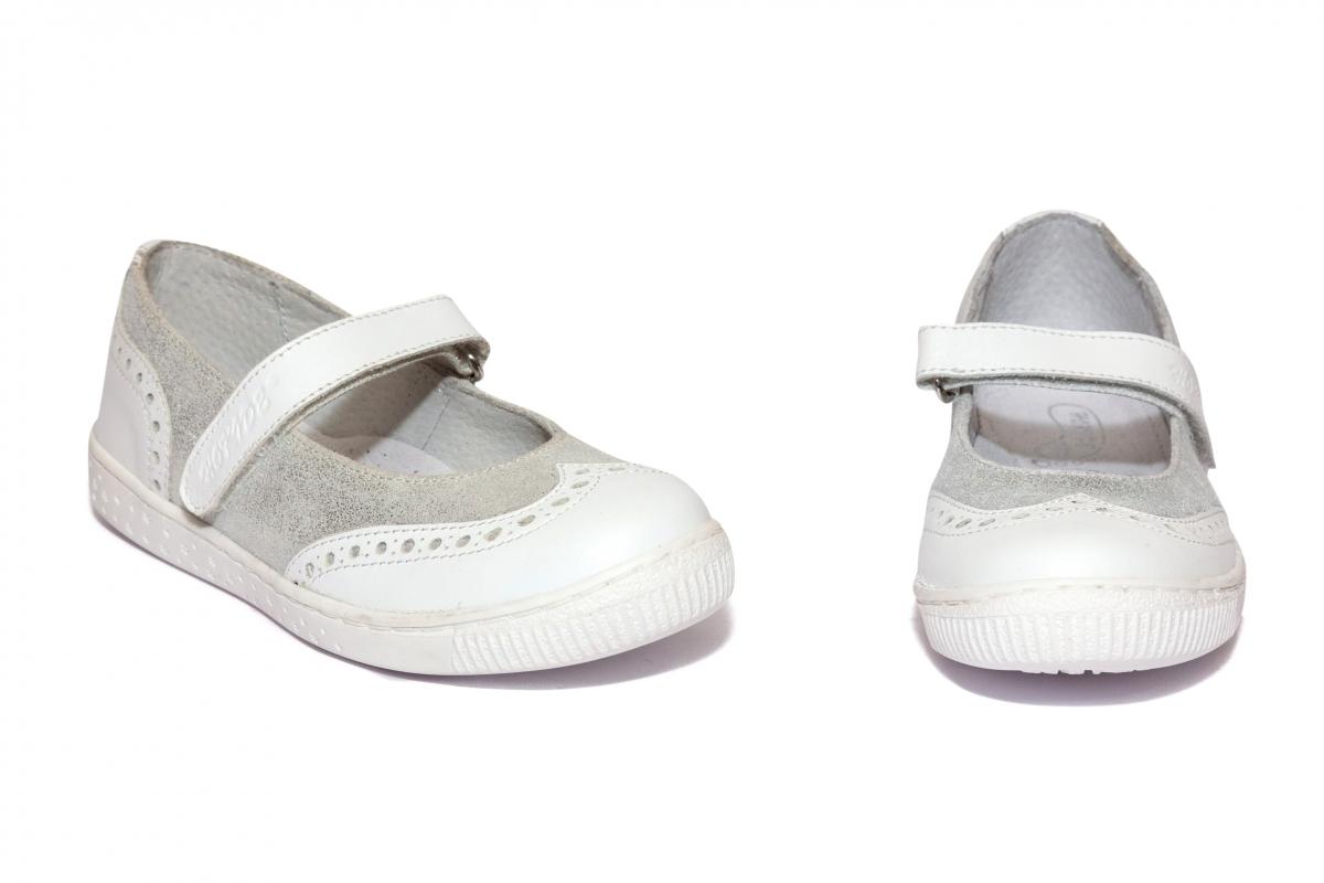 Pantofi balerini fete hokide 419 alb 26-35