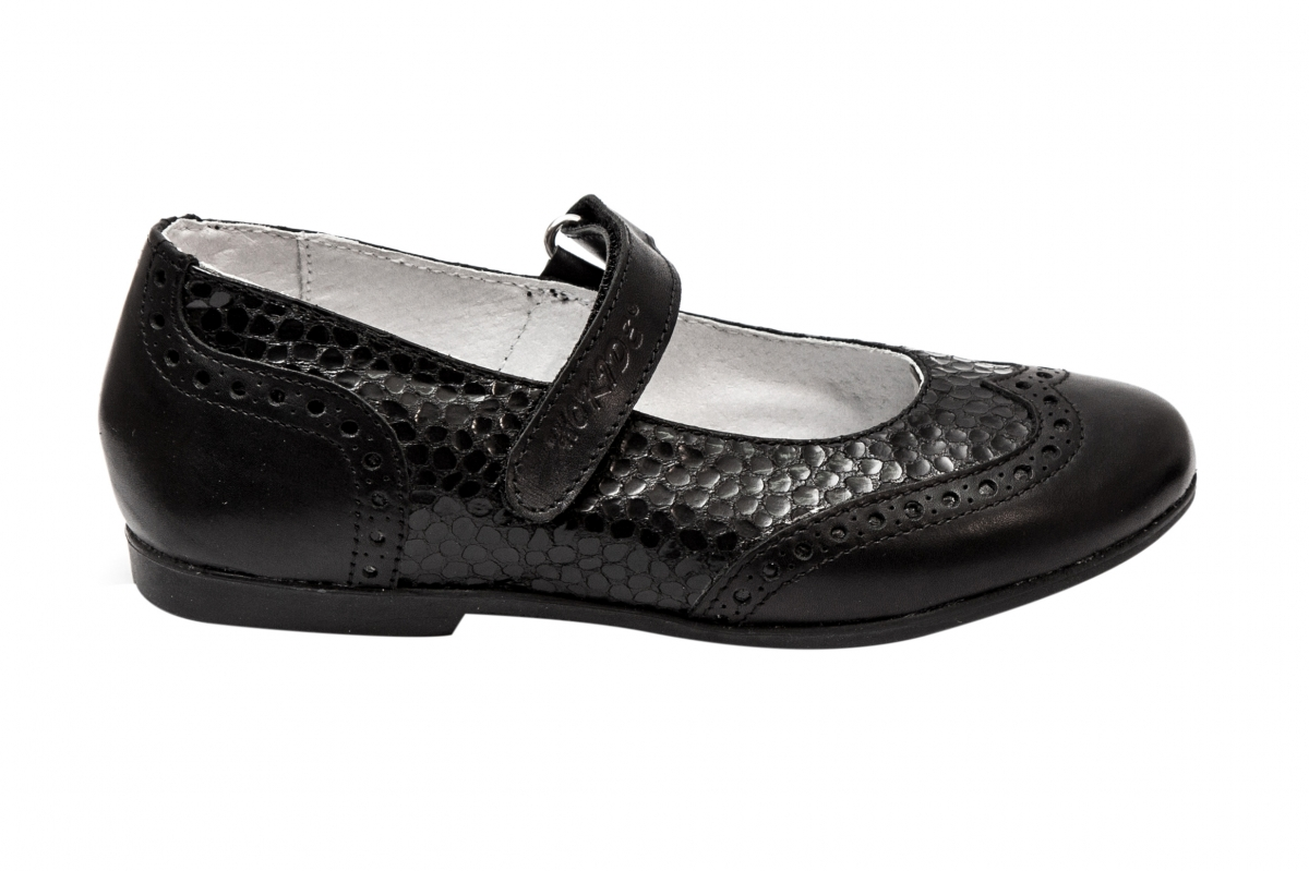 Pantofi balerini fete hokide 419 negru croco 26-35