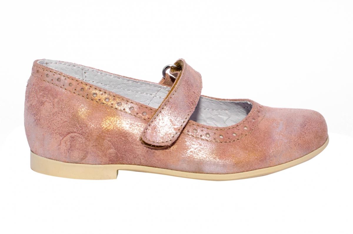 Pantofi balerini fete hokide 421 roz flori 26-35