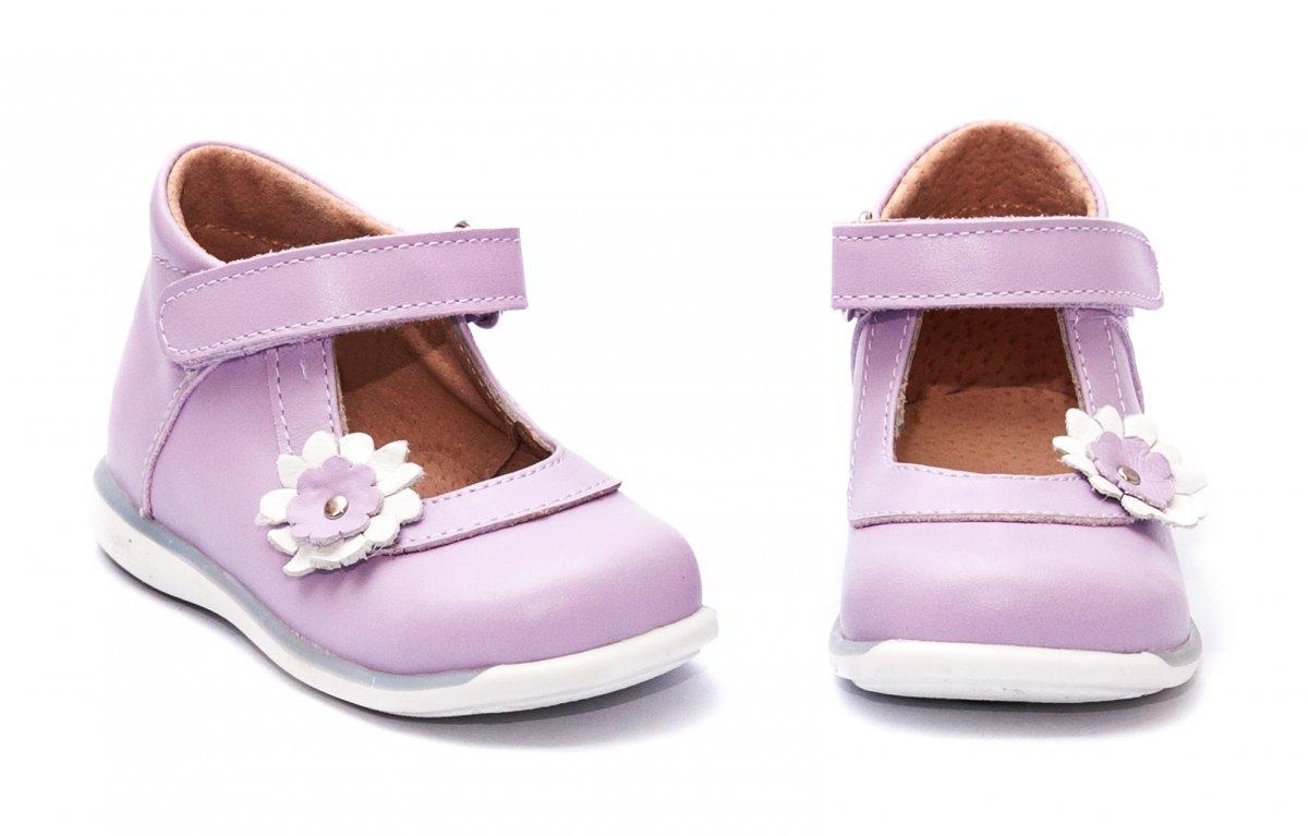 Pantofi balerini fete inalt pe glezna 746 lila 18-25