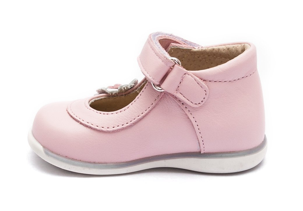 Pantofi balerini fete inalt pe glezna 746 roz alb 18-25