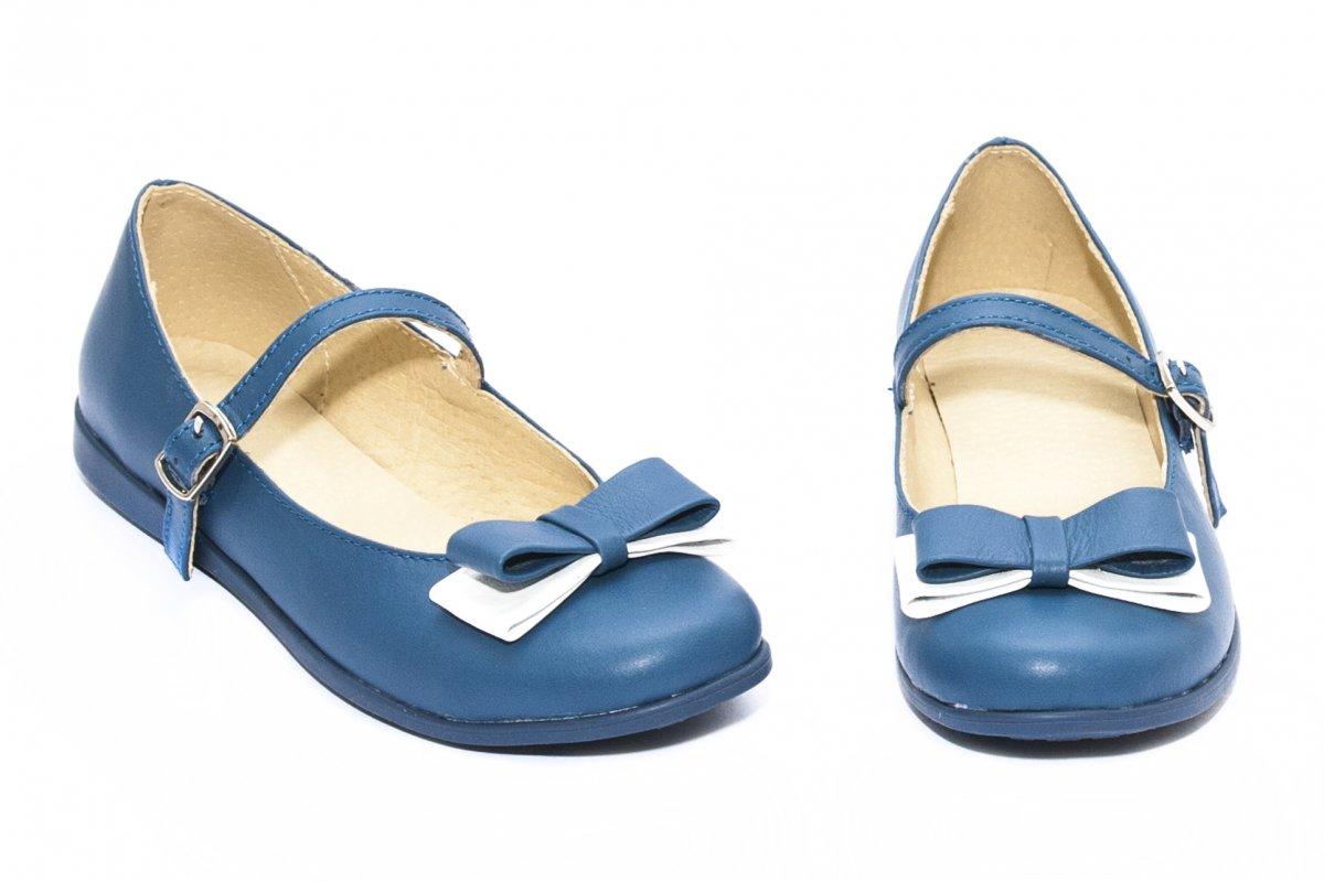 Pantofi balerini fete piele 1326 albastru 26-36