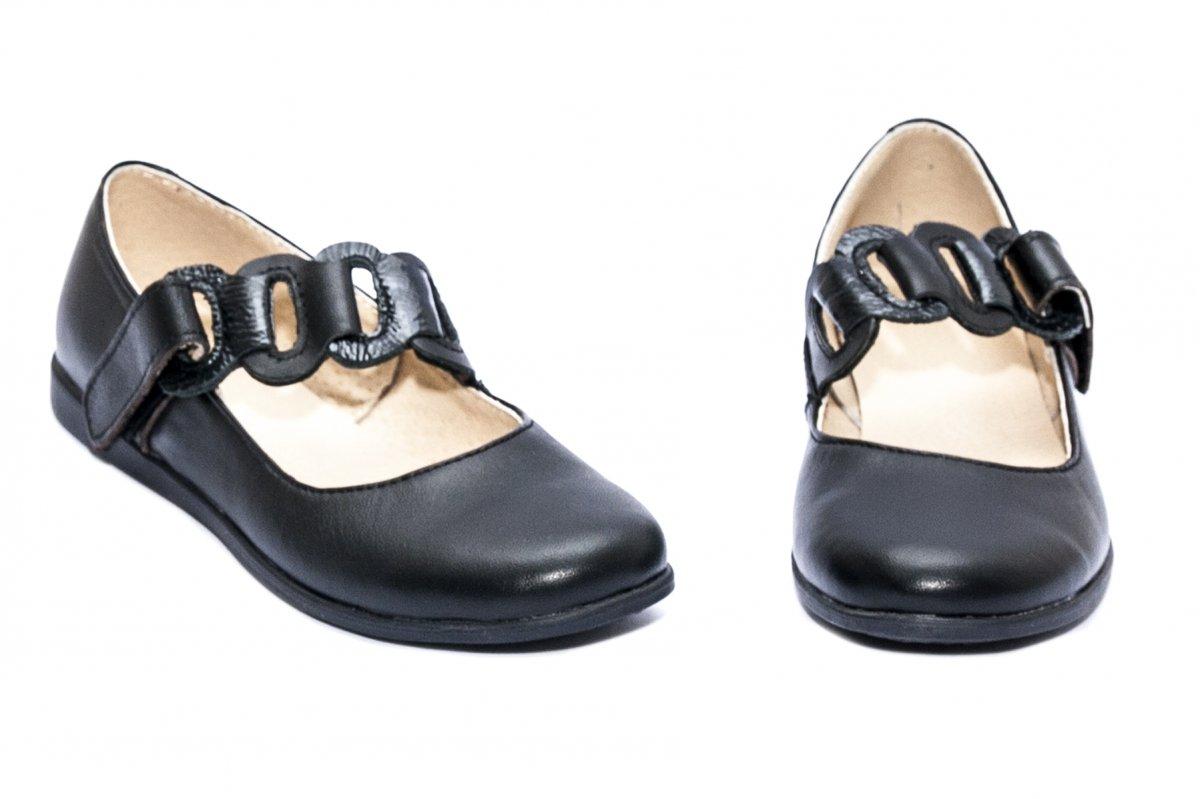 Pantofi balerini fete piele 639 negru 26-36