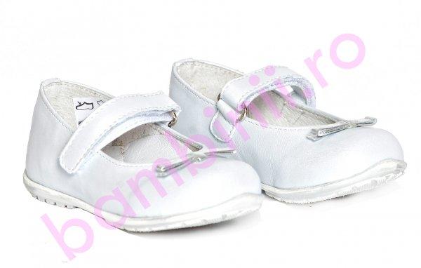 Pantofi balerini fete pj shoes Candy alb 20-26