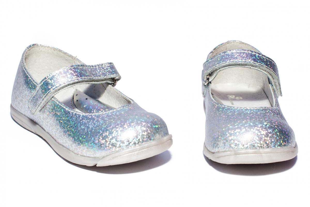 Pantofi balerini fete pj shoes Candy argintiu 20-26