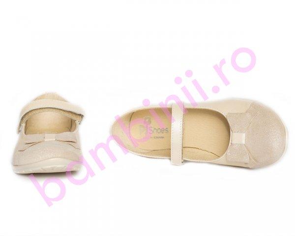 Pantofi balerini fete pj shoes Cherry bej 27-36