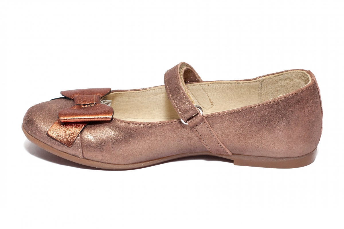 Pantofi balerini fete pj shoes Cherry bronz 27-36