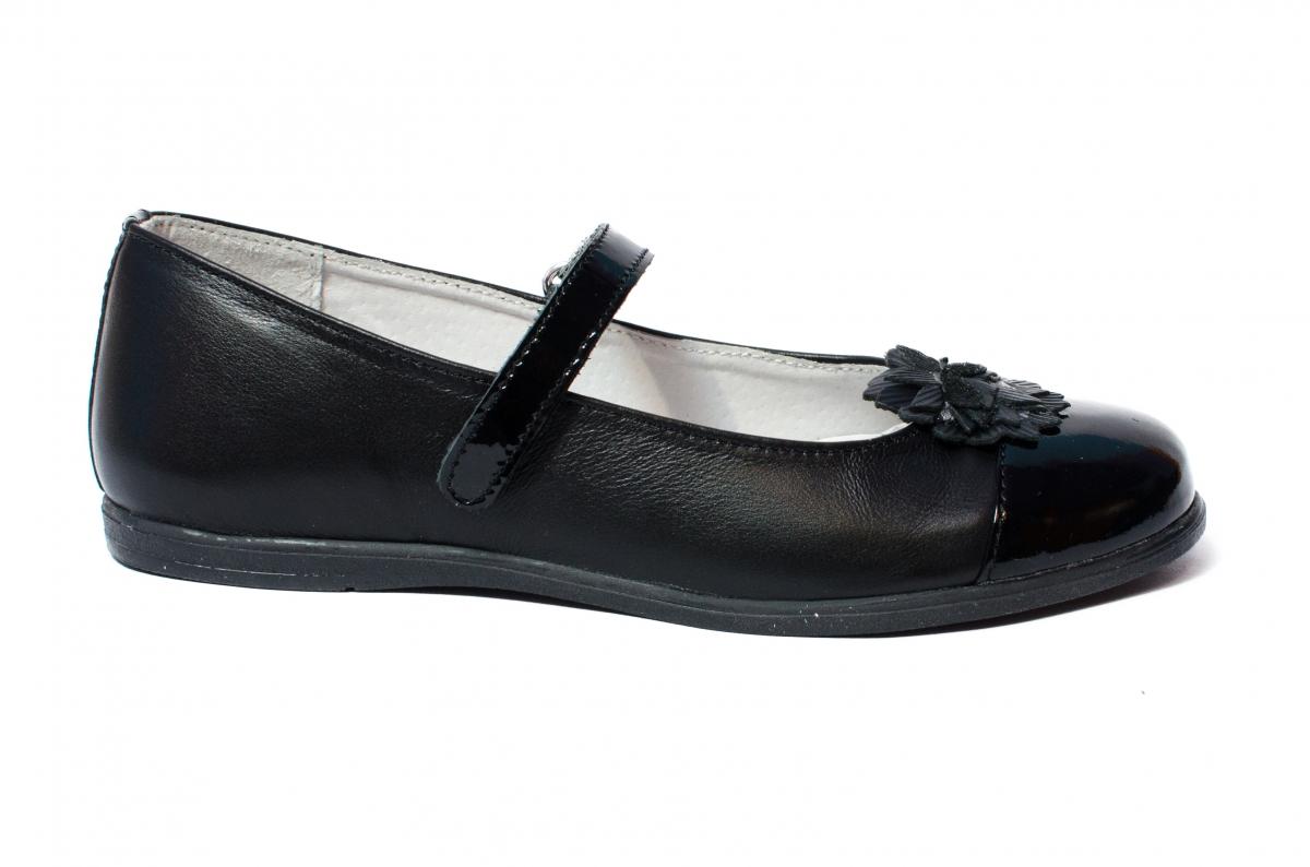 Pantofi balerini fete pj shoes Clara negru 27-36