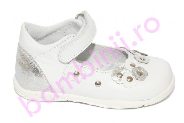 Pantofi balerini fete pj shoes Emma alb 20-26