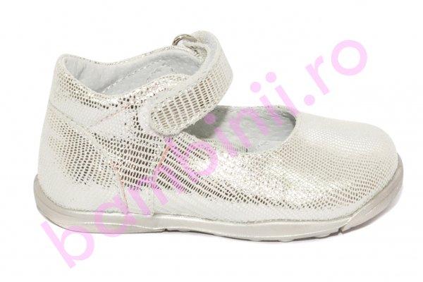 Pantofi balerini fete pj shoes Emma argintiu 20-26