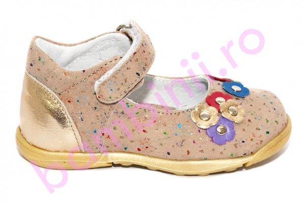 Pantofi balerini fete pj shoes Emma bronz 20-26